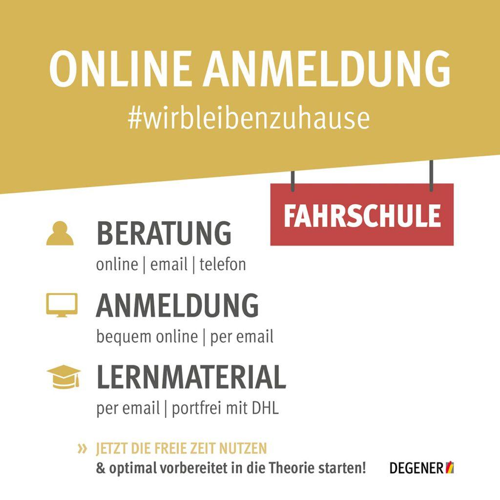 Anmeldung online